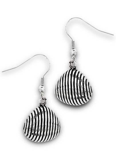 Surgical Steel Earrings | Stainless Steel Scallop Shell Earrings |