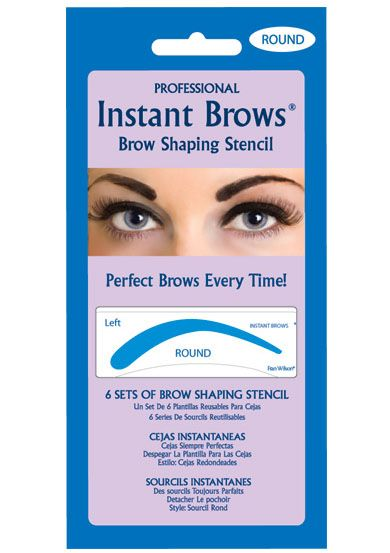 Peel and Stick Eyebrow Stencils - Round Shape |