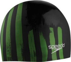 Speedo Flag Stripe Silicone Swim Cap  