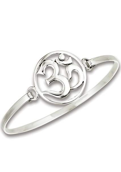 Sterling Silver Om Symbol Bracelet | Om Jewelry