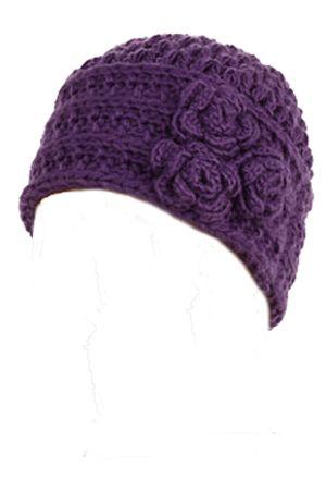Triple Flower Crocheted Beanie for Girls