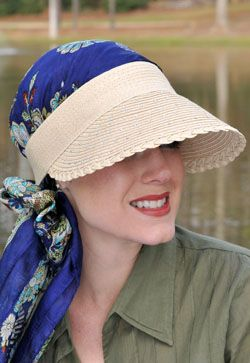 Rhinestone Mini Scarf Visor for Women - Sun Visor Hat