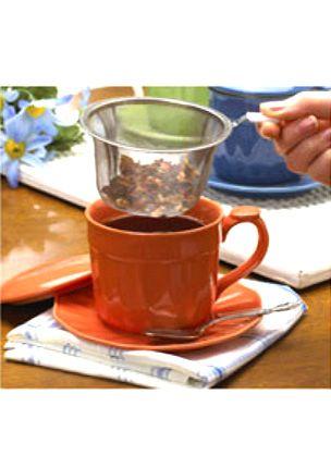 Tea Time 4 pc Individual Mug with Tea Infuser