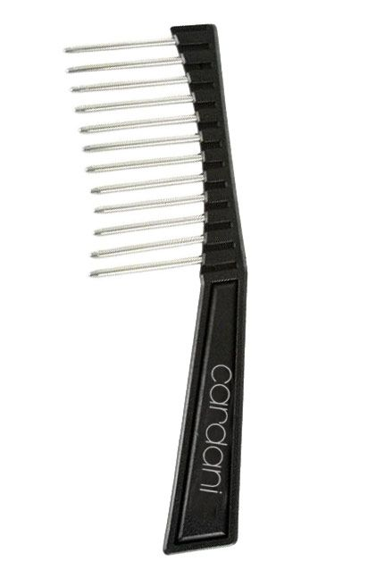 Cardani Wide Tooth Wig Comb | Metal Anti Static Wig Brush Pick