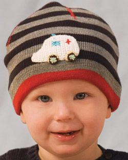 Striped Beanie Cap for Kids