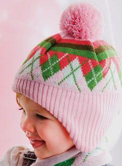 Argyle Cap for Girls |