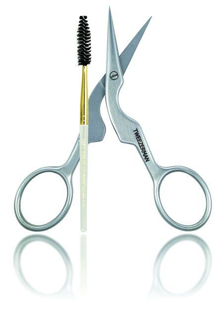 Brow Shaping Scissors & Brush by Tweezerman |