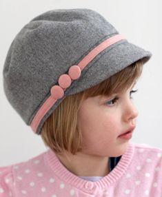 Three Button Newsboy Hat for Girls