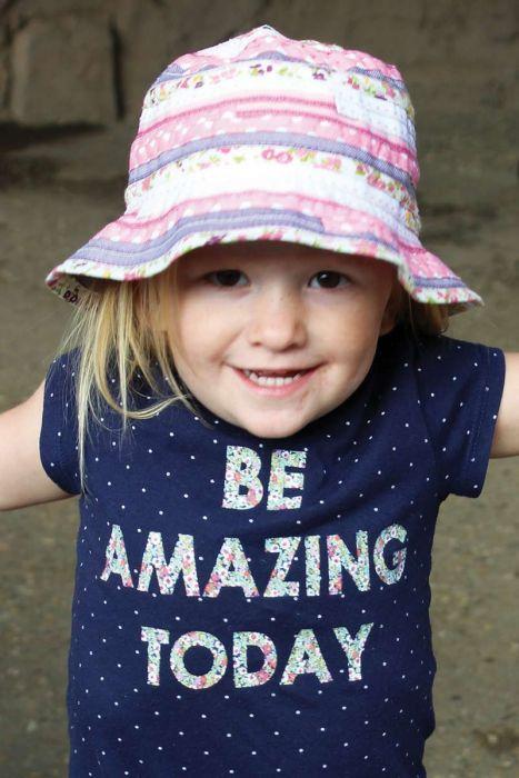 Floral Ribbon Braid Bucket Hat for Girls