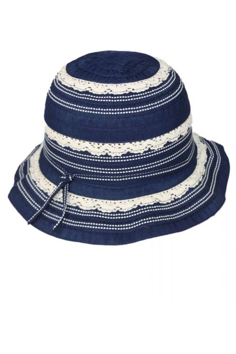 Lace Ribbon Braid Hat for Girls