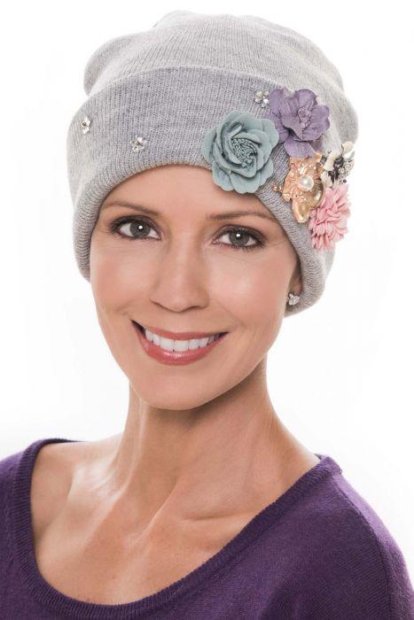 Adelynn 3D Flower Sparkle Beanie Hat