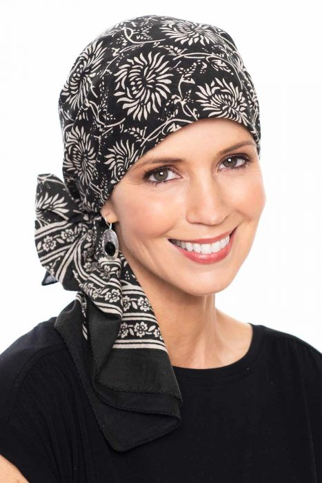 Allison Print | 100% Cotton Woodblock Hand Stamped Head Scarves