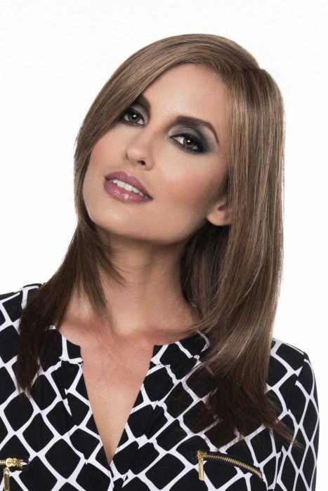Ava by Envy Wigs - Human Hair/Heat Friendly Synthetic Blend, Lace Front, Monofilament Part Wig
