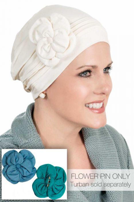 Cardani® Hand Made Flower Pin | Bamboo Viscose Hat Accessory