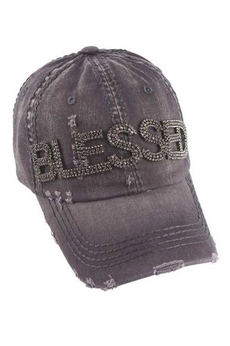 Bejeweled Blessed Baseball Cap