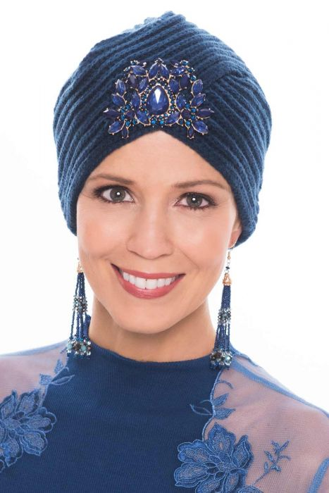 Bejeweled Knit Turban for Women | Embellished Turbans for Fall & Winter