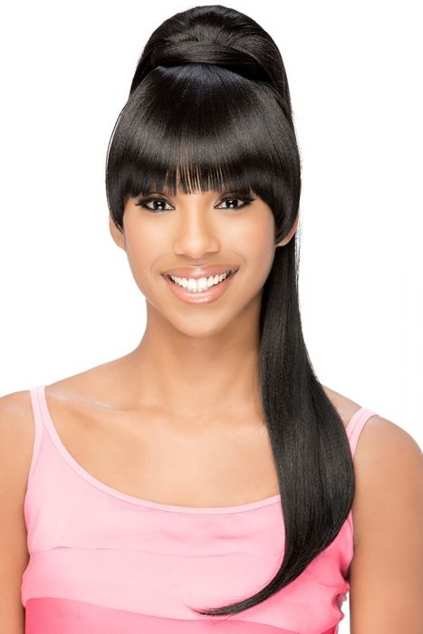 BP-Loui Bang and Ponytail by Vivica Fox Wigs - Heat Friendly Synthetic Hairpiece Extension