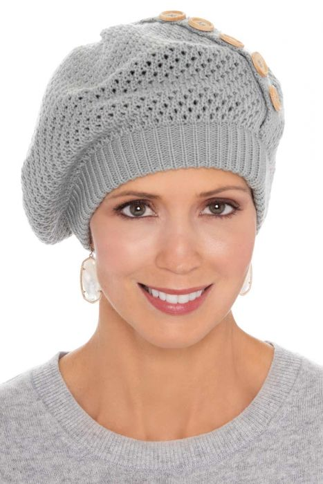 Breathable Button Knit Beret | Cute Winter Hats for Women