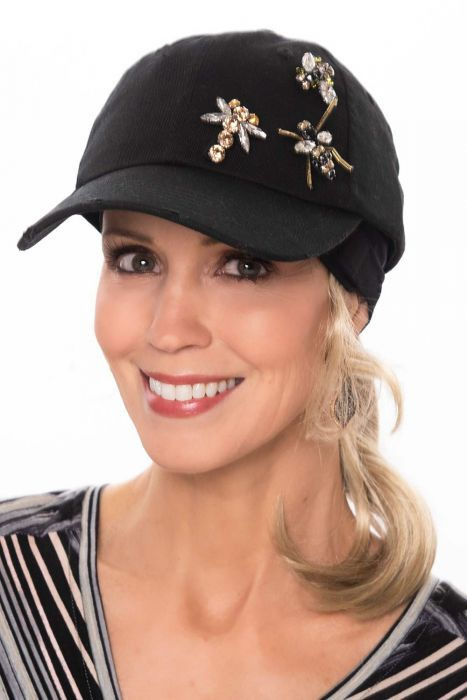 Bejeweled Bumblebee Baseball Cap   Baseball Caps or Women