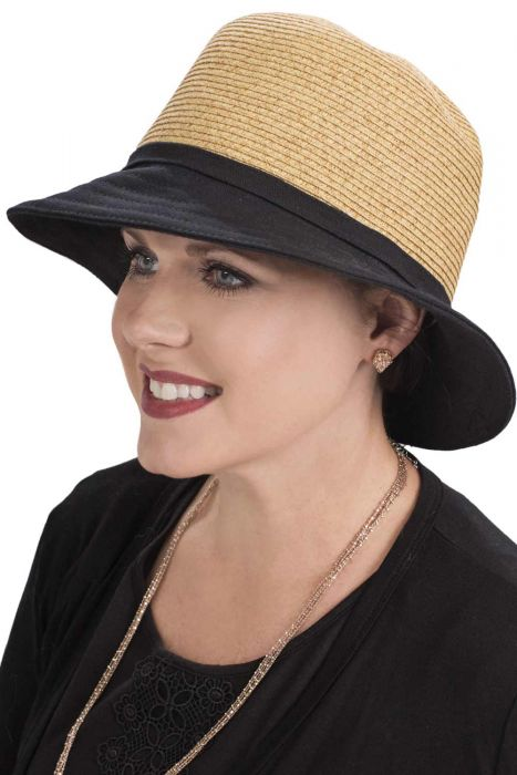 Canvas And Braid Cloche Hat | UPF 50 Summer Hats For Women