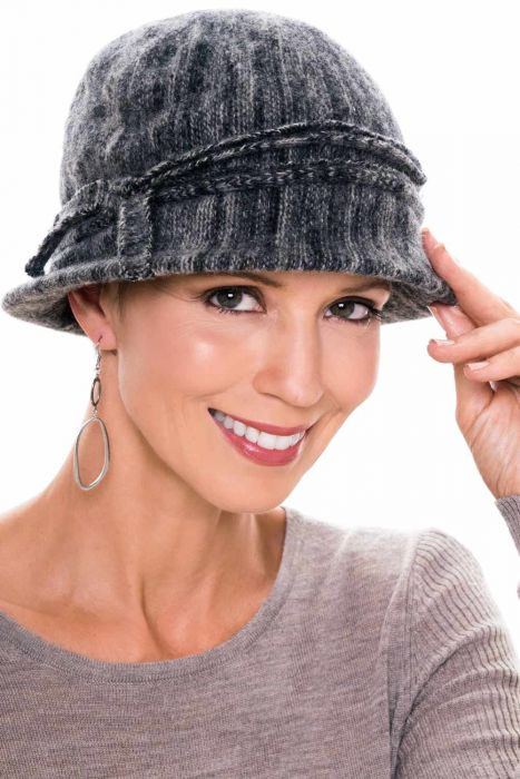 Diluted Stripe Classic Cloche Hat | Winter Hat for Women
