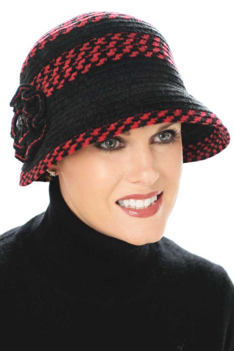 Chenille Florette Cloche Hat