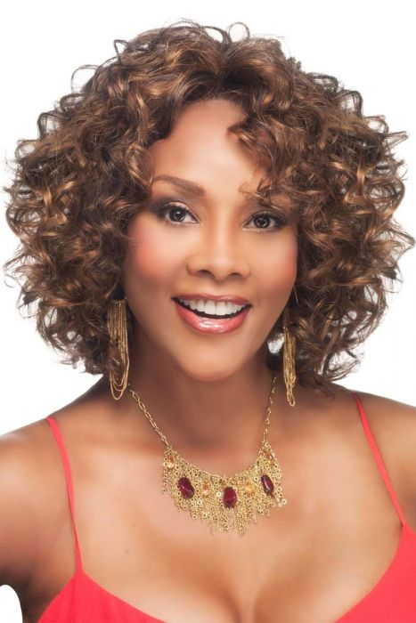 Chilli-V by Vivica Fox Wigs - Heat Friendly Synthetic, Lace Front Wig