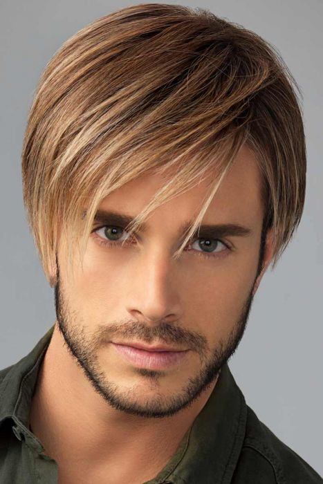 Chiseled Mens Wig by HIM HairUWear - Monofilament, Lace Front, Hand Tied Wig