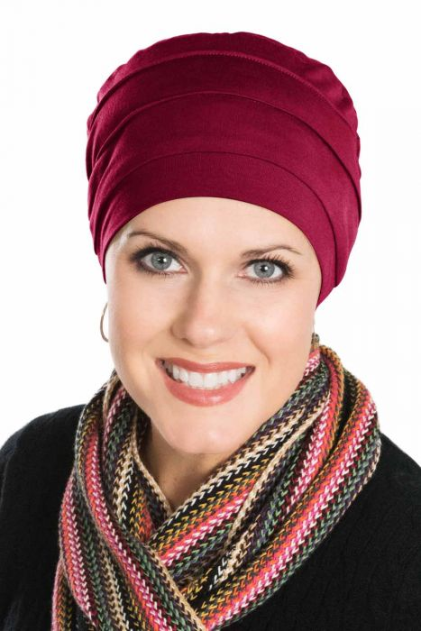 Comfort Cap in Bordeaux   Viscose from Bamboo Hat   Luxury Bamboo - Bordeaux