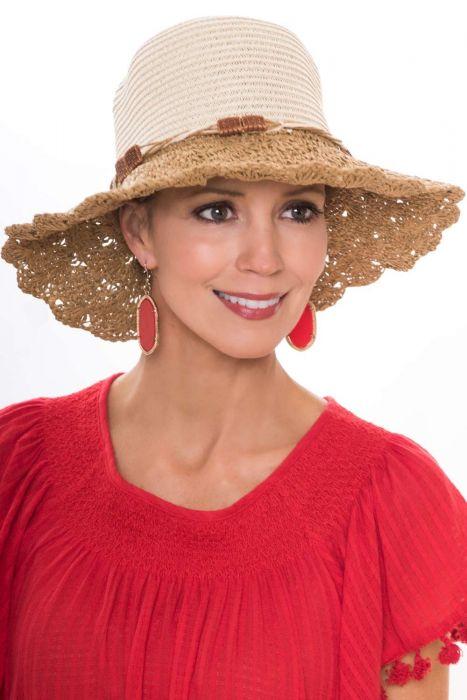 Petite Corinne Crochet Sun Hat for Women |