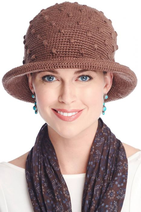 Hand Crocheted Cotton Kathleen Hat