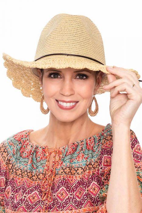 Crochet Brim Fedora | Brimmed Summer Sun Hats for Women |