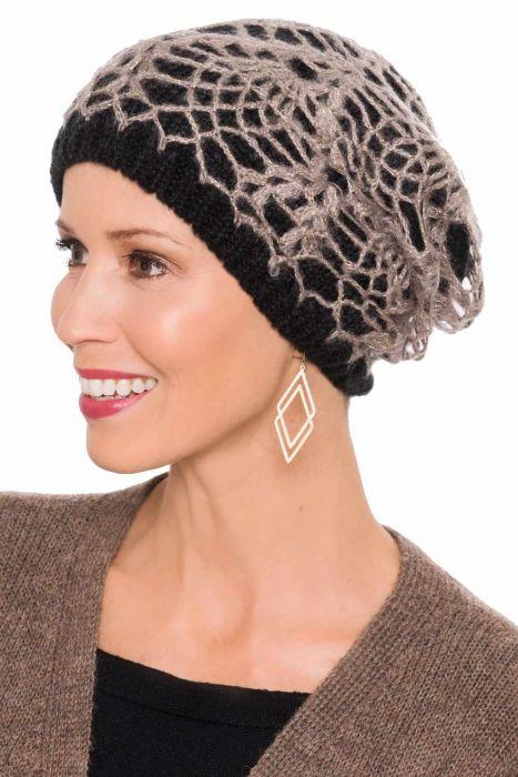 Crochet Overlay Beanie Cap