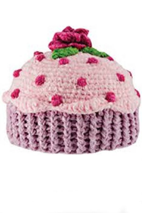 Girls Chenille Cupcake Hat |