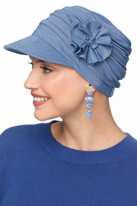 Cardani Buttery Soft Florette Newsboy Hat in Cupro Modal