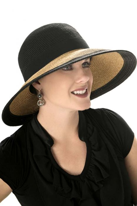 Deanna Color Block Sun Protection Hat for Women