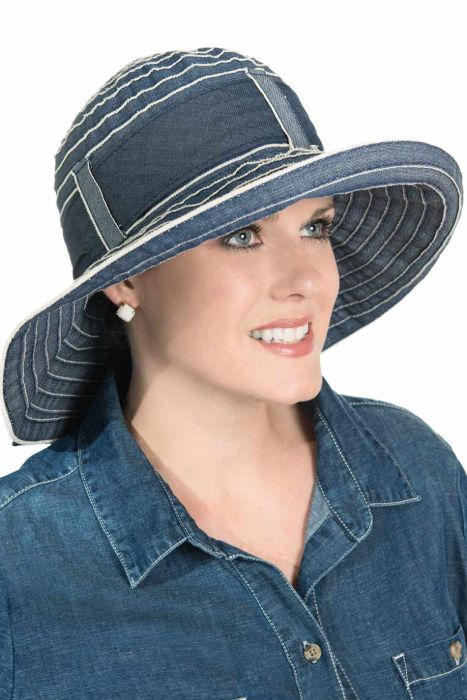 Denim Delaina Sun Hat for Women