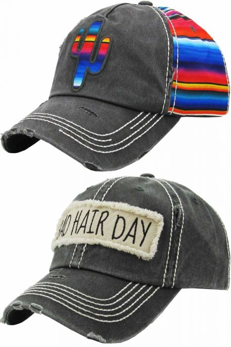 Distressed Novelty Baseball Caps
