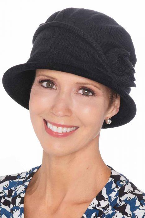 Cotton Knit Rosette Cloche   All Cotton Hats for Women