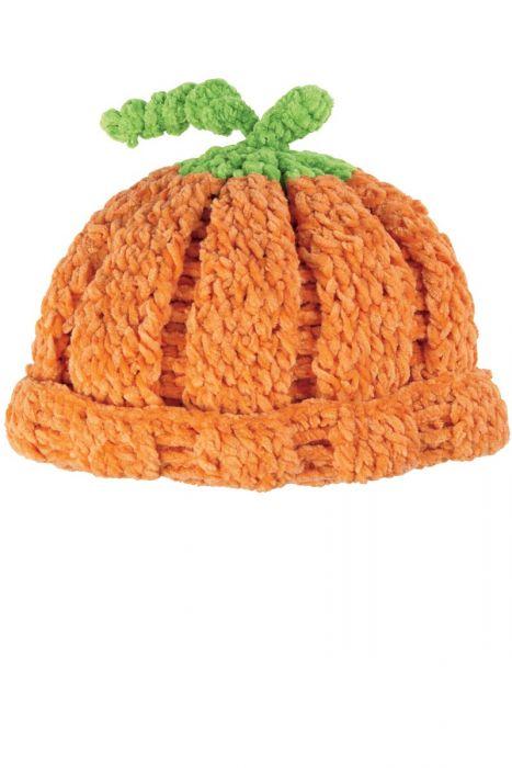 Crocheted Pumpkin Hat for Kids |