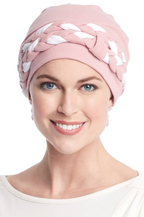 Two-Tone Double Braid Turban Set | All Cotton 2 Piece Turbans for Woman