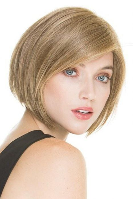 Mood by Ellen Wille Wigs - Human Hair/Synthetic Blend, 100% Hand Tied, Lace Front, Monofilament Top Wig