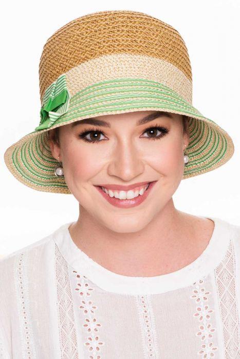 Elodie Green Tea Cloche Hat | Vintage Sun Hats for Women |