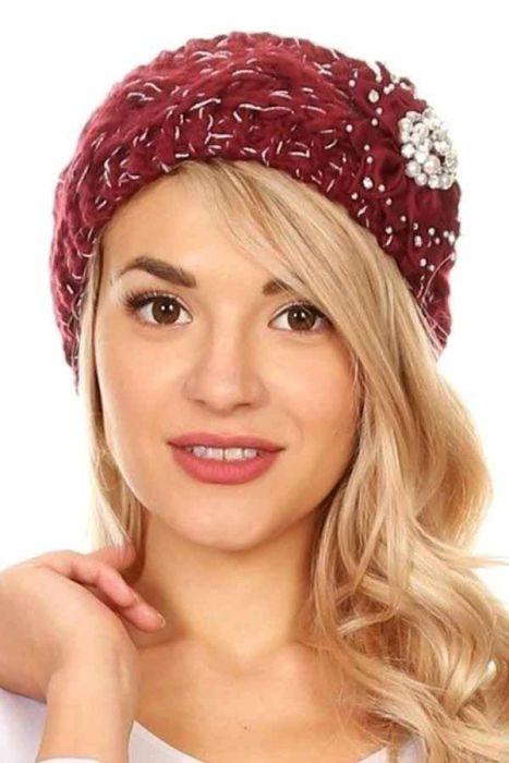 Embellished Pearl Headband & Hat Accessory