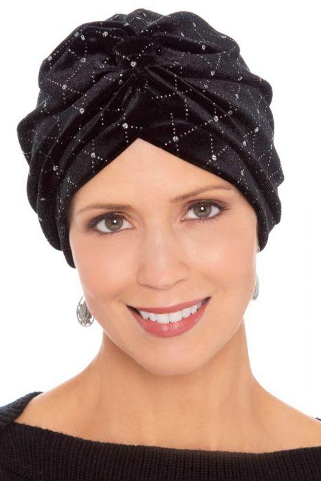 Embellished Velour Turban | Cute Turbans for Women