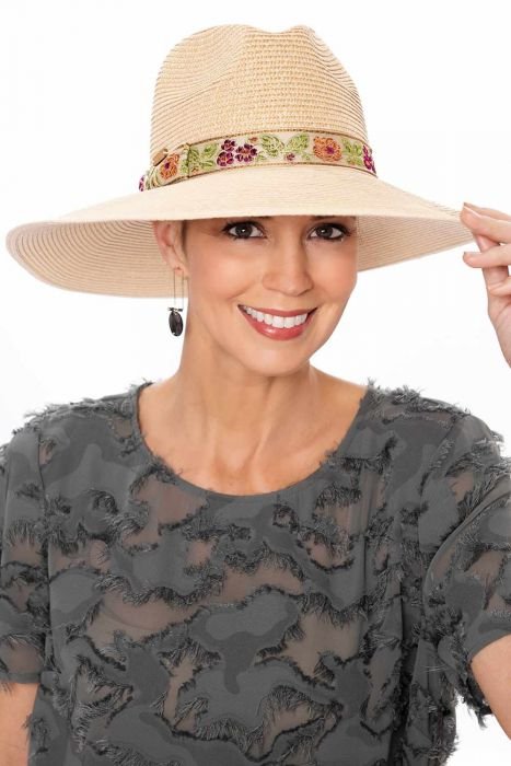 Embroidered Band Panama Hat | Summer Hats for Women |