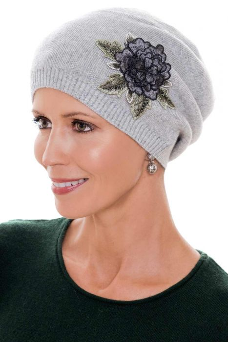 3D Flower Beanie Hat | Soft Wool Knit Fall & Winter Cap