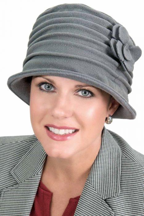 Fleece Evalyn Cloche Hat - Accordion Winter Hat for Women