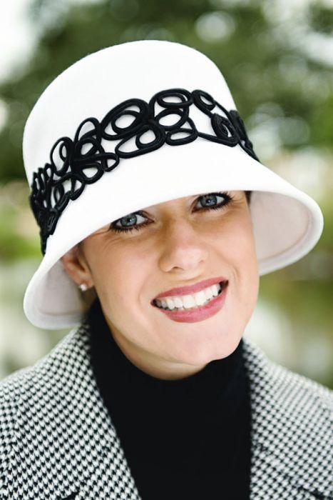 Felt Filigree Cloche Hat