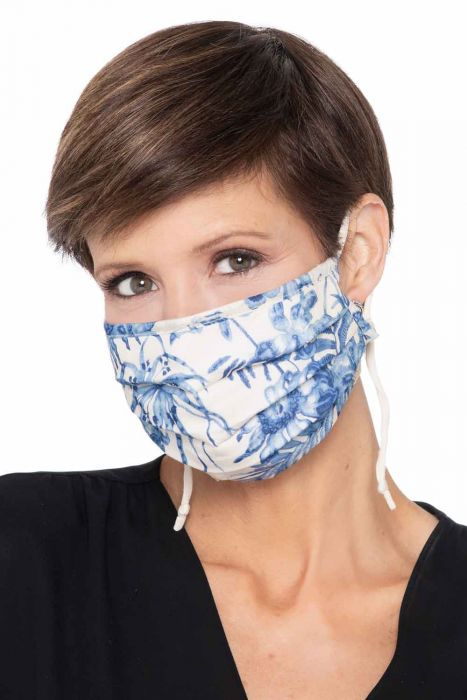 ACCORDION Face Mask | Woven Painted Floral | Woven Cotton - Painted Floral